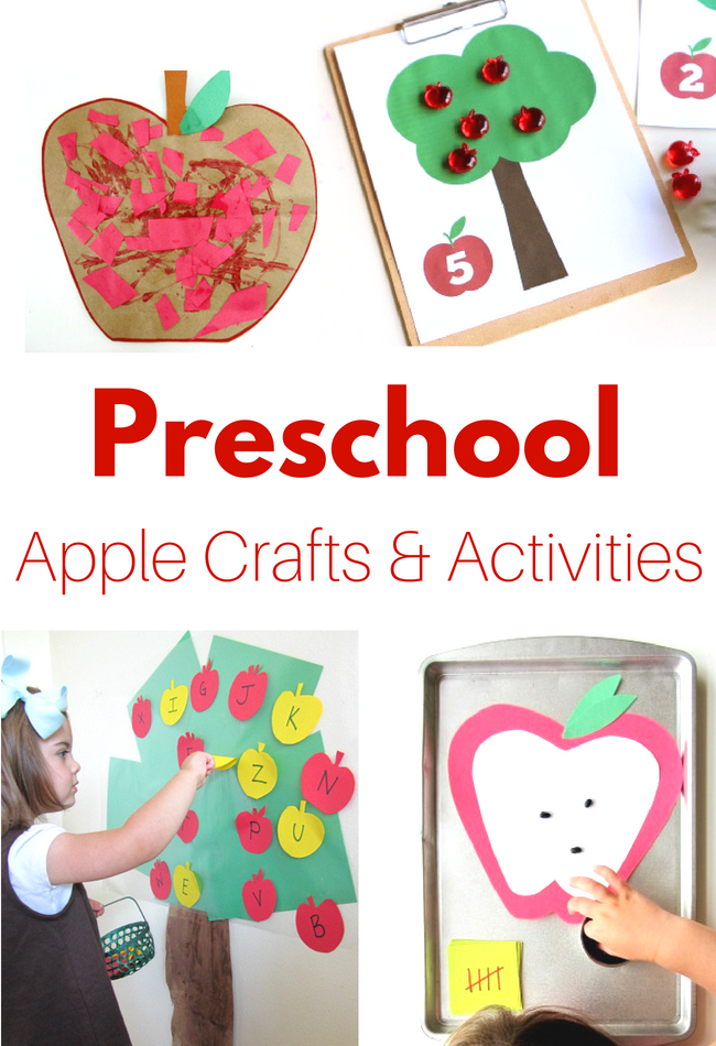 Preschool apple crafts and activities for fall