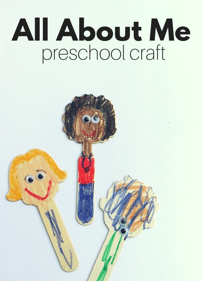 All about me preschool craft no time for flash cards for All about me toddler crafts