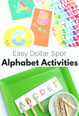 Preschool Alphabet Activities from The Dollar Spot