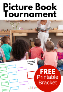 picture book tournament free printable bracket