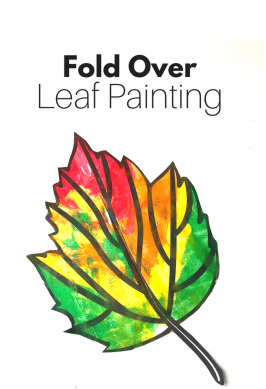 Fall Art Projects – Fold Over Leaf Painting