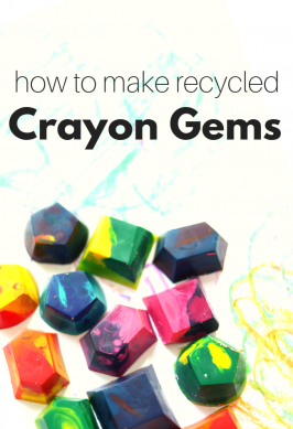 how to make crayon gems perfect for toddlers to color with out of old recycled crayons