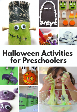 list of great activities for preschoolers for halloween