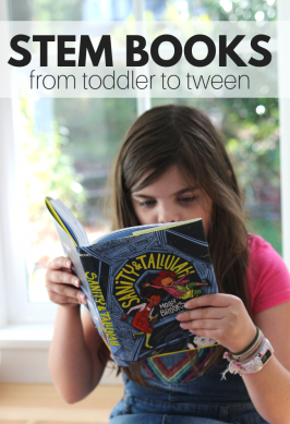 book list of books about science for toddlers, children, and tweens.