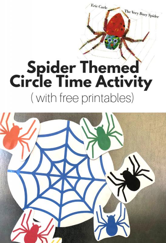 spider activity for preschool