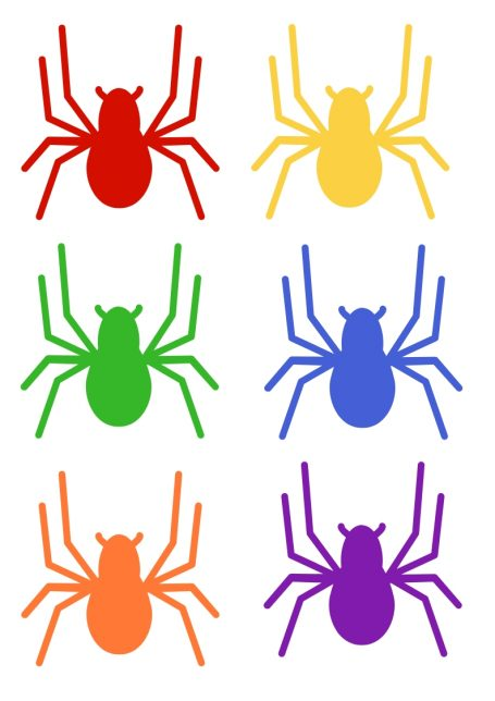 photo about Spider Printable identify Spider Themed Circle Year Match with No cost Printables - No