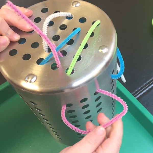 pipe cleaners are great materials for fine motor development