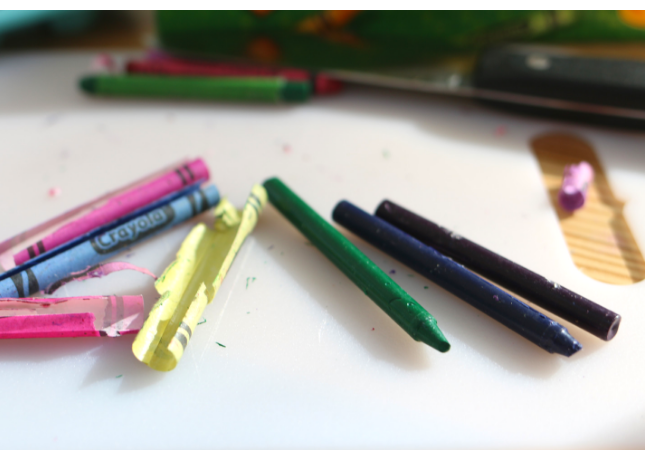 recycled crayons Cactus Crayons set of 10 party favors