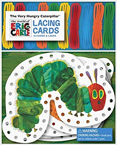 Use lacing cards to help develop fine motor skills