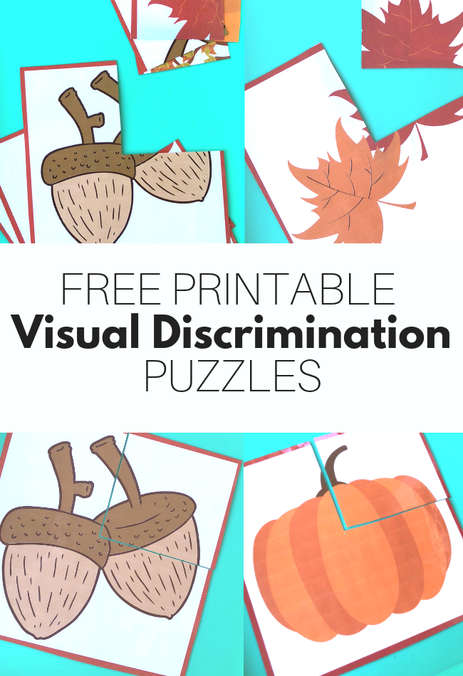 image relating to Printable Puzzles for Preschoolers known as Visible Discrimination Puzzles - Absolutely free Printables - No Year