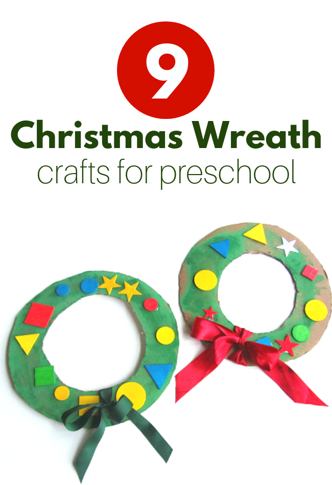 Christmas wreath crafts for preschool and kindergarten #Christmascrafts #kids #preschool