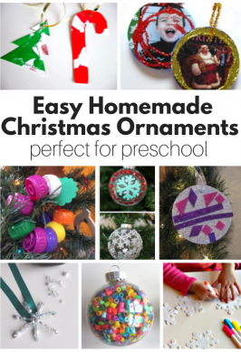 Homemade Christmas Ornaments (Perfect for Preschool)