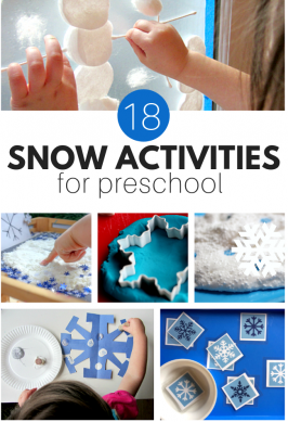 snow activities for preschool winter themes