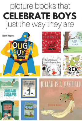 books list of picture books about all kinds of boys including gentle, creative, feminine