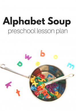 Preschool Lesson Plan – Alphabet Soup