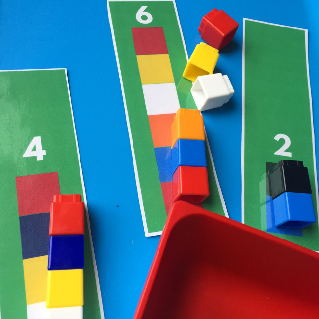 unifix cube pattern mats for preschool