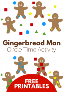 gingerbread themed circle time activity