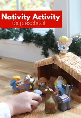 Fill The Manger Nativity Activity for Preschool