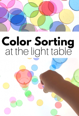 color sorting activity for preschool