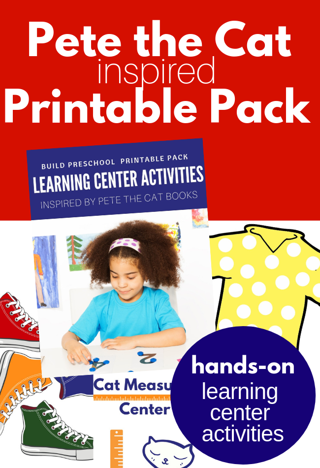 Pete The Cat Inspired Printables For Preschool No Time For Flash Cards