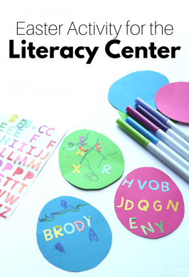 Easter Literacy Center Activity