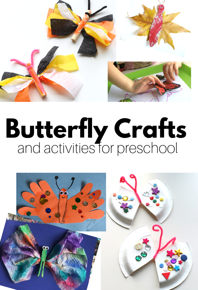 Butterfly Crafts for Preschool - No Time For Flash Cards