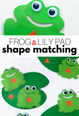 Frog Pond Shape Match Activity for Preschool