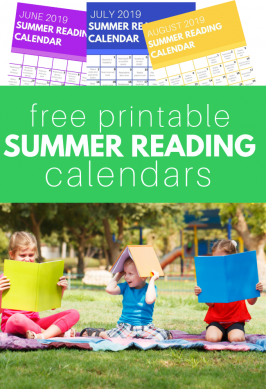 Summer Reading Calendars – Print for FREE