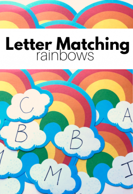 Rainbow Letter Matching Activity