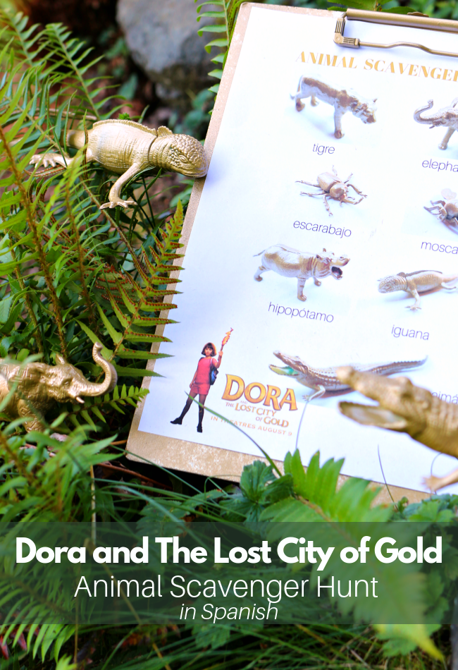 scavenger hunt inspired by Dora and The Lost City of Gold in theaters August 9th