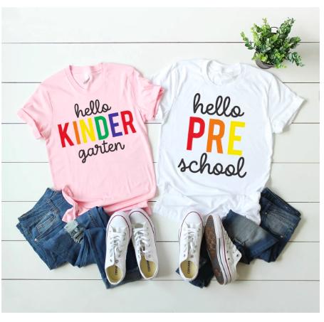 preschool and kindergarten teacher t-shirts