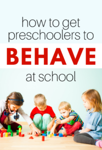 tips for teachers on how to get preschoolers to behave at school