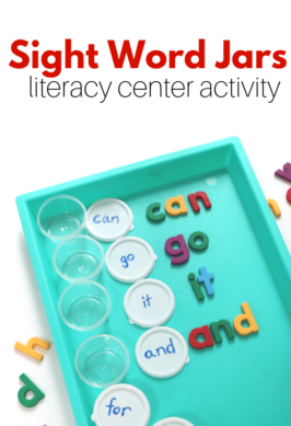 literacy center activity with sight words for kindergarten