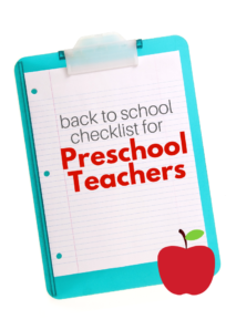 back to school checklist preschool