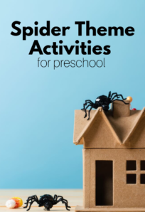 spider activities for preschool