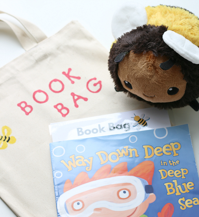 book bags for preschool early literacy