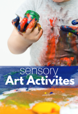 sensory play preschool with art