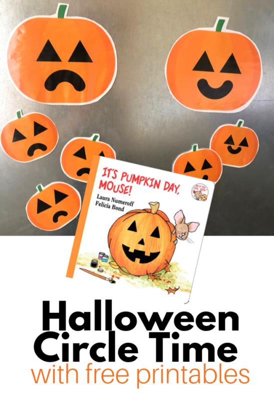 Halloween circle time for preschool
