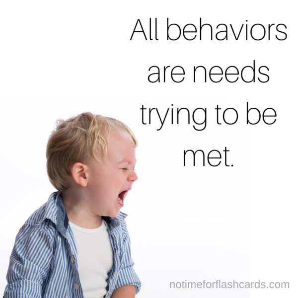 Behavior teaching tips No time for flash cards
