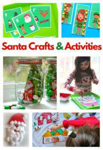 santa crafts for preschoolers collage of a bunch of great ideas from no time for flash cards.com