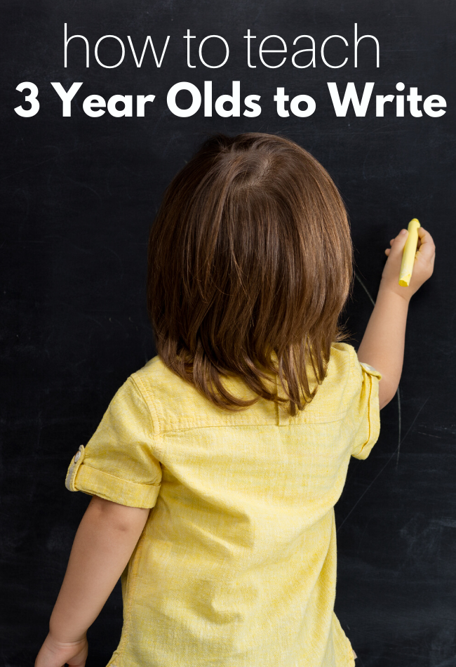 How To Teach A 3 Year Old Write No