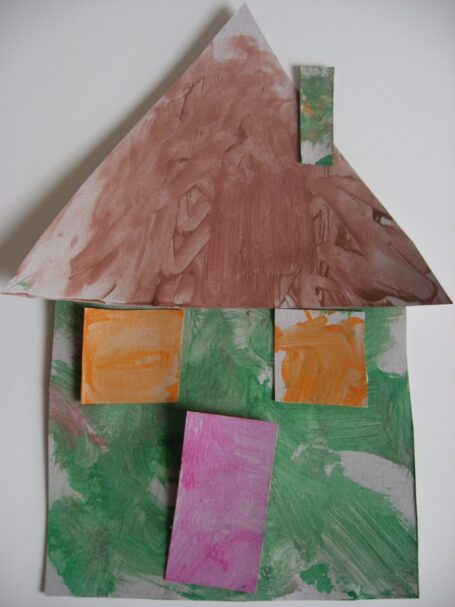 shape house learning about families