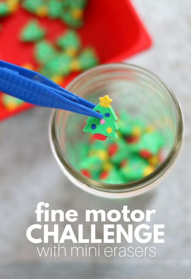 mini eraser activities preschool