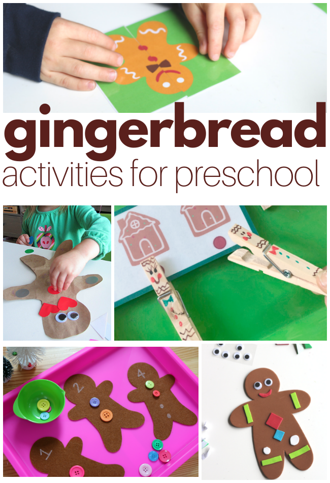 preschool gingerbread activities