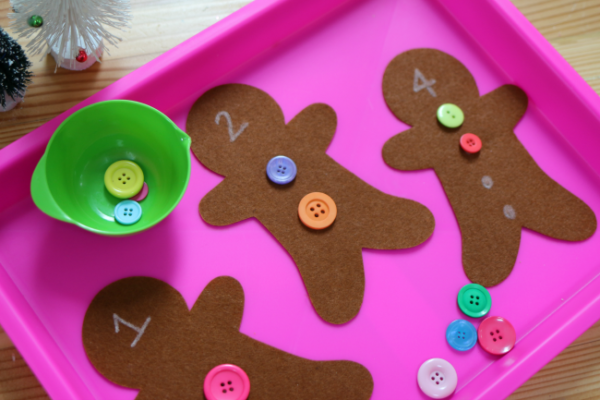 gingerbread man activity for kindergarten math center