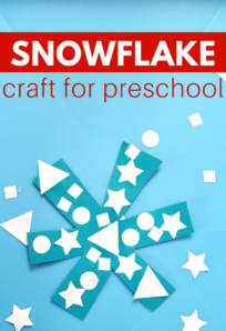 shape activity for winter theme preschool