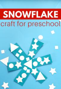 shape activity for winter theme preschool