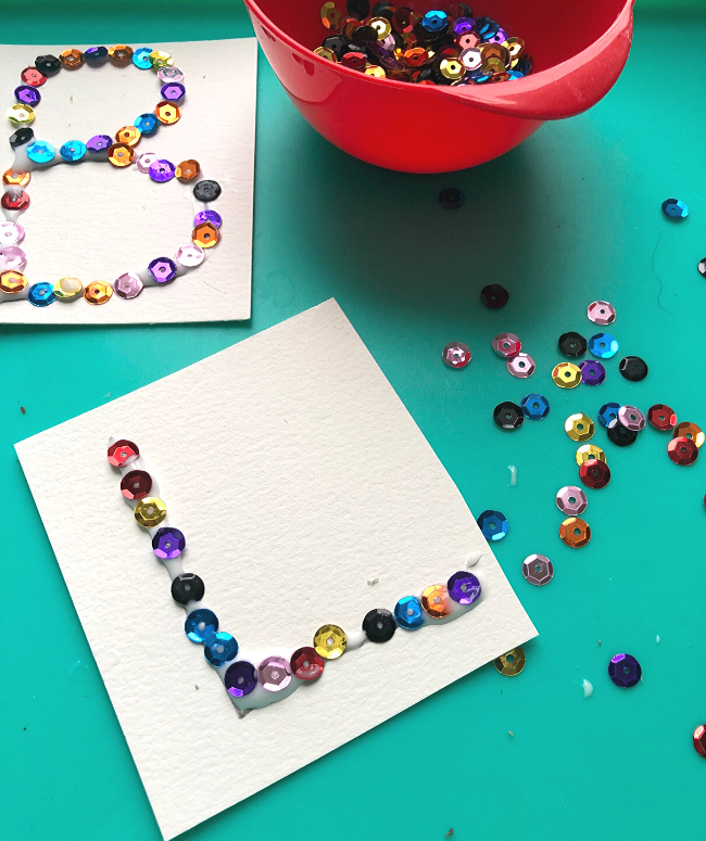 letter art activity for kindergarten literacy centers