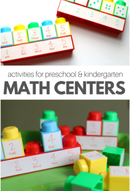 math center idea for prekindergarten