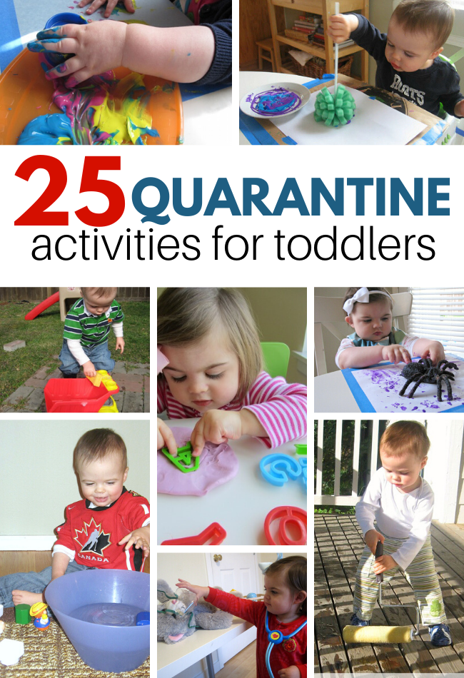 25 Quarantine Activities For Toddlers